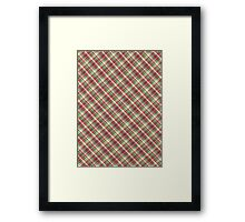 Green Red And White Plaid Fabric Design Framed Print