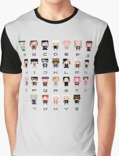 Harry Potter Alphabet Graphic T-Shirt