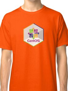 centos linux hexagonal hexagon Classic T-Shirt