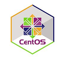 centos linux hexagonal hexagon Photographic Print