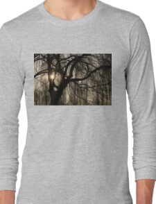 Intricate Lacy Curtains - Sunrise Glow Through the Willows  Long Sleeve T-Shirt