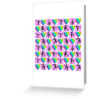 PINK LOVE GYMNASTICS HEART DESIGN Greeting Card