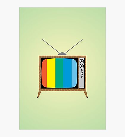 Retro TV Photographic Print