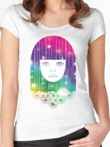 Space Girl Women's Fitted Scoop T-Shirt