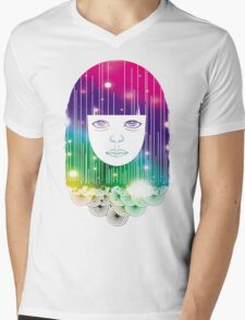 Space Girl Mens V-Neck T-Shirt
