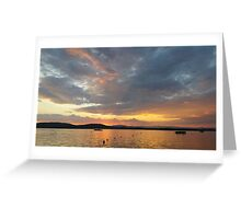 Summer sunset in Greece Greeting Card