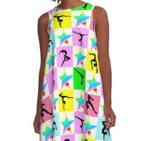 PRETTY GYMNASTICS STAR DESIGN A-Line Dress