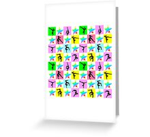PRETTY GYMNASTICS STAR DESIGN Greeting Card