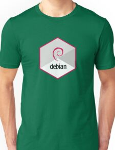debian operating system linux hexagonal Unisex T-Shirt