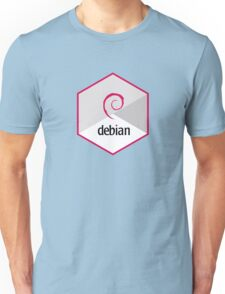 debian operating system linux hexagonal Unisex T-Shirt