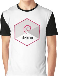debian operating system linux hexagonal Graphic T-Shirt