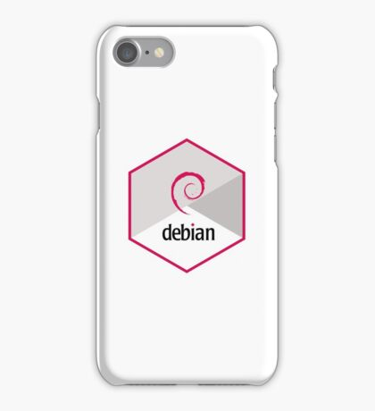 debian operating system linux hexagonal iPhone Case/Skin