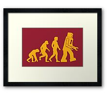 Sheldon Cooper - The Big Bang Theory Robot Evolution Framed Print