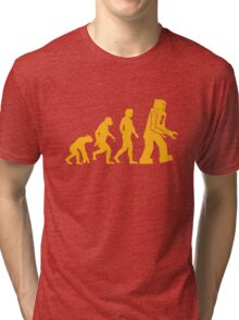 Sheldon Cooper - The Big Bang Theory Robot Evolution Tri-blend T-Shirt