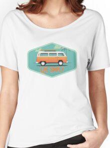 Live Simply - Beach Van Sticker Women's Relaxed Fit T-Shirt