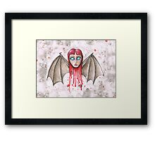 Vampire Woman Framed Print