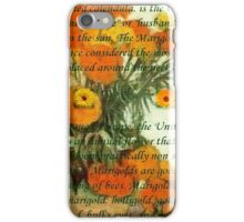 October's Child Birthday Greeting with Marigolds iPhone Case/Skin