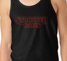 Stranger Things x Gym Rat, Gains, Stronger Tank Top