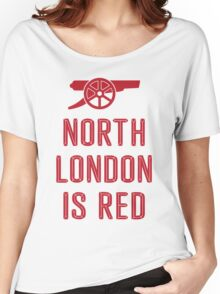 Arsenal FC - North London is Red Women's Relaxed Fit T-Shirt