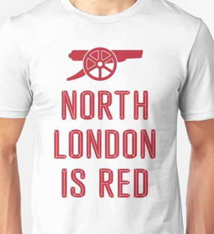 Arsenal FC - North London is Red Unisex T-Shirt