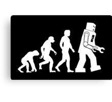 Sheldon Cooper - The Big Bang Theory Robot Evolution White Variant Canvas Print