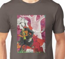 Red Dog with Couple Unisex T-Shirt