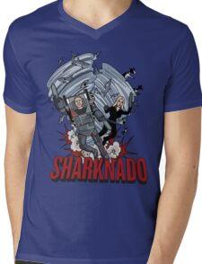 Shark Heroes Mens V-Neck T-Shirt