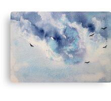 Dramatic sky || watercolor Canvas Print