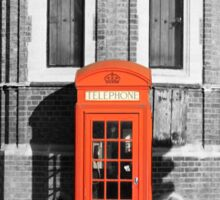 LONDON CALLING RED TELEPHONE BOOTH Sticker