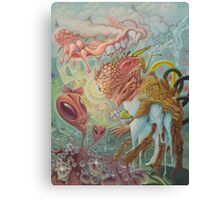 Mr. Crazy Bones Encounters Ms. Alien Head Canvas Print