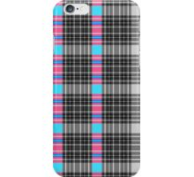 Black and white tartan with a touch of colour iPhone Case/Skin