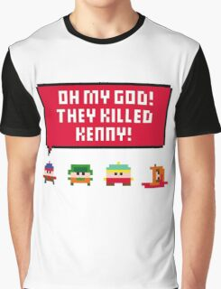 Pixel South Park - They Killed Kenny Graphic T-Shirt