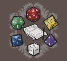 RPG DICE set and DICE PATTERN by Medusa Dollmaker