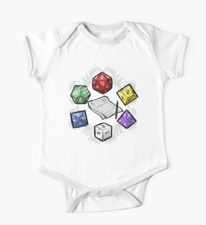 RPG DICE set and DICE PATTERN One Piece - Short Sleeve