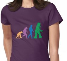Sheldon Cooper - The Big Bang Theory Robot Evolution Colour Womens Fitted T-Shirt