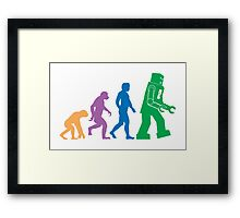 Sheldon Cooper - The Big Bang Theory Robot Evolution Colour Framed Print