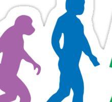 Sheldon Cooper - The Big Bang Theory Robot Evolution Colour Sticker