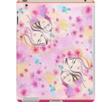 watercolor girls and cherry blossom iPad Case/Skin