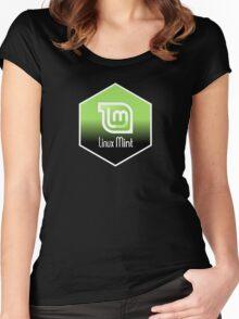 linux mint hexagonal hexagon design Women's Fitted Scoop T-Shirt