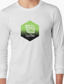 linux mint hexagonal hexagon design Long Sleeve T-Shirt