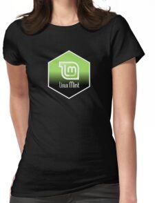 linux mint hexagonal hexagon design Womens Fitted T-Shirt