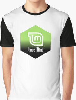 linux mint hexagonal hexagon design Graphic T-Shirt