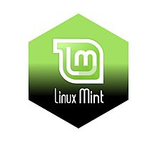 linux mint hexagonal hexagon design Photographic Print