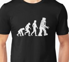 Sheldon Cooper - The Big Bang Theory Robot Evolution White Variant Unisex T-Shirt