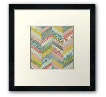 Chevron Herringbone Pattern Framed Print
