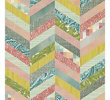 Chevron Herringbone Pattern Photographic Print