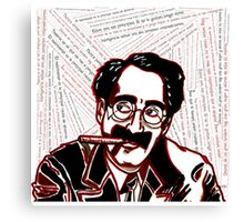 Groucho Text Canvas Print