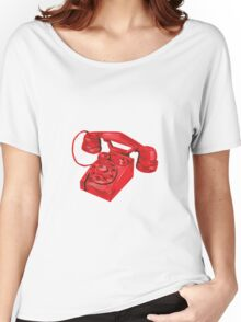 Telephone Vintage Drawing Women's Relaxed Fit T-Shirt
