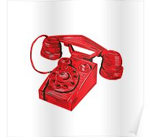 Telephone Vintage Drawing Poster