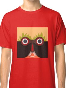 Lustiges abstraktes Gesicht Classic T-Shirt